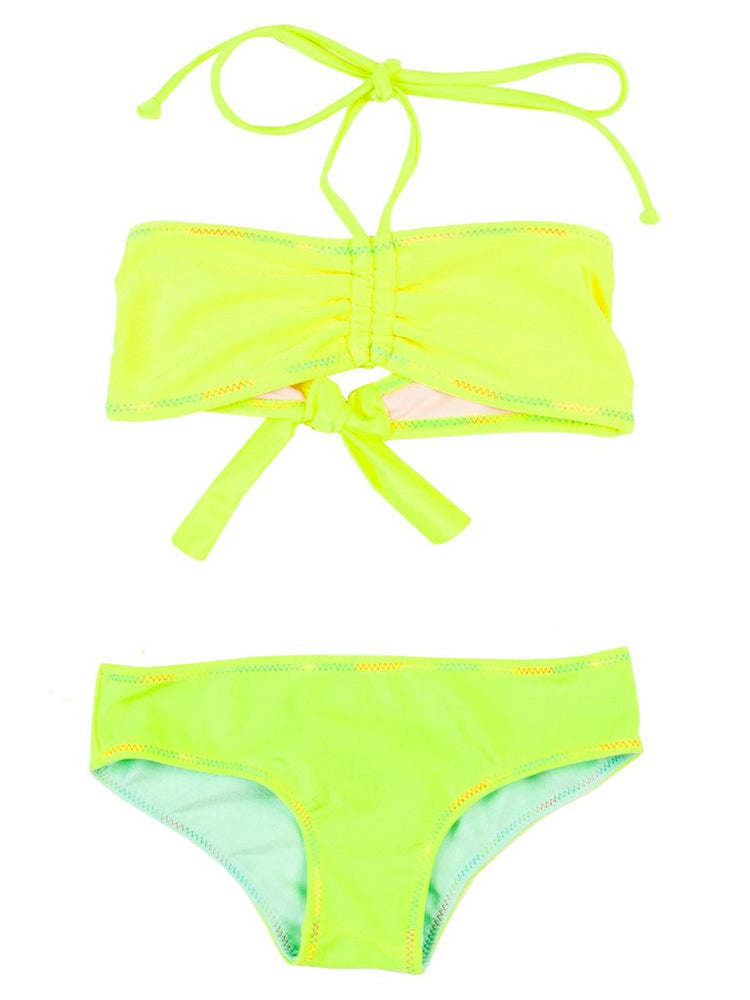 Kids yellow reversible two piece