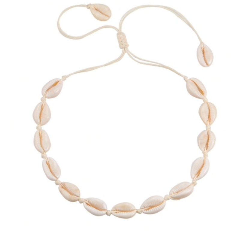 Adjustable puka shell necklace