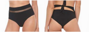 Load image into Gallery viewer, Black high waisted bottoms with cut out design