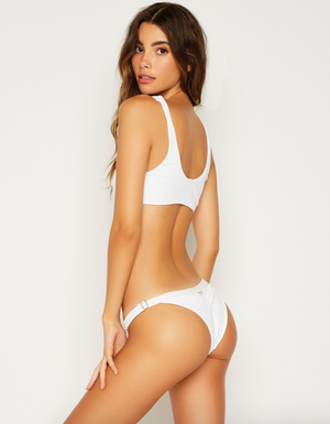 Load image into Gallery viewer, adjustable, white, bikini bottoms