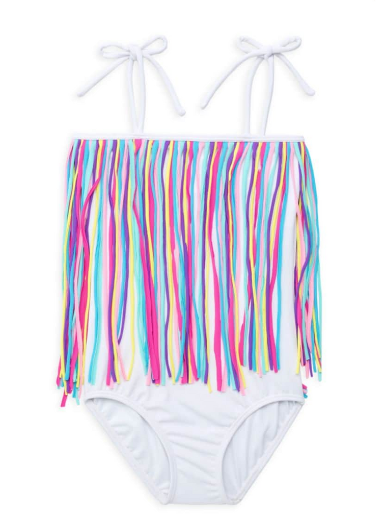Fringy One piece White Multi Color