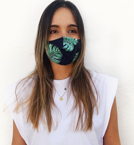 Black Fern Print Mask