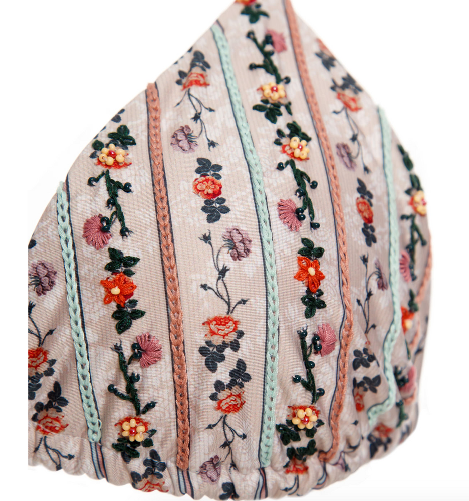 Load image into Gallery viewer, Floral Print Triangle Top