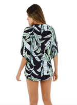 Leaf Print Coverup Shirt