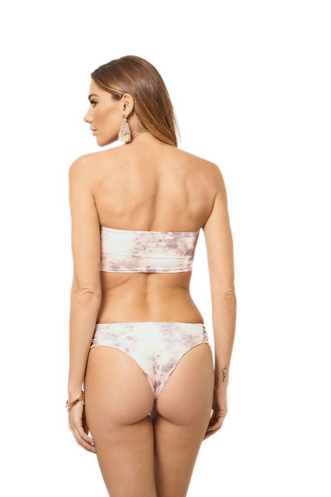 Light pink tie-dye cheeky bottoms