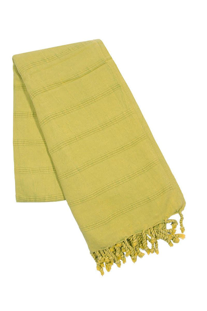 Green stone wash turkish towel
