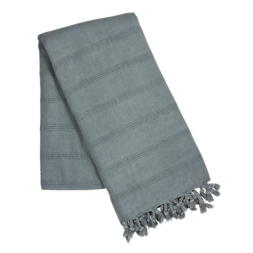 Blue stone wash turkish towel