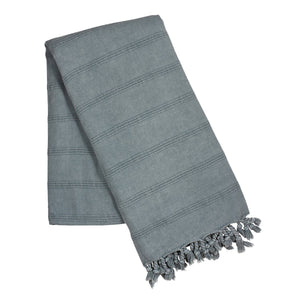 Load image into Gallery viewer, Blue stone wash turkish towel