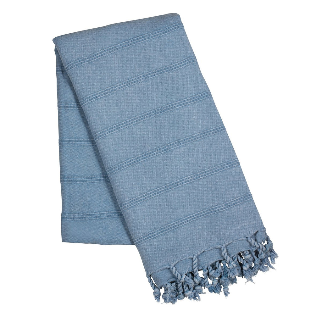 Denim stone wash turkish towel