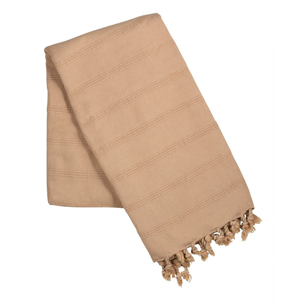 Load image into Gallery viewer, Beige stone wash turkish towel