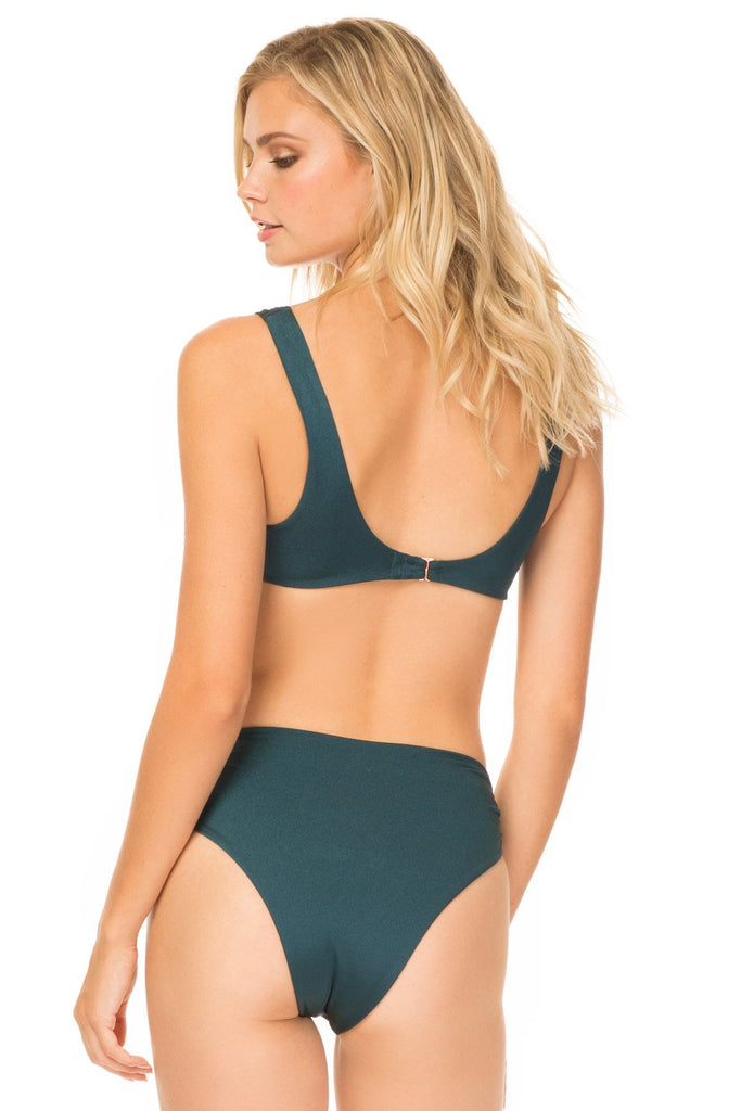 Teal cheeky high waisted bottoms