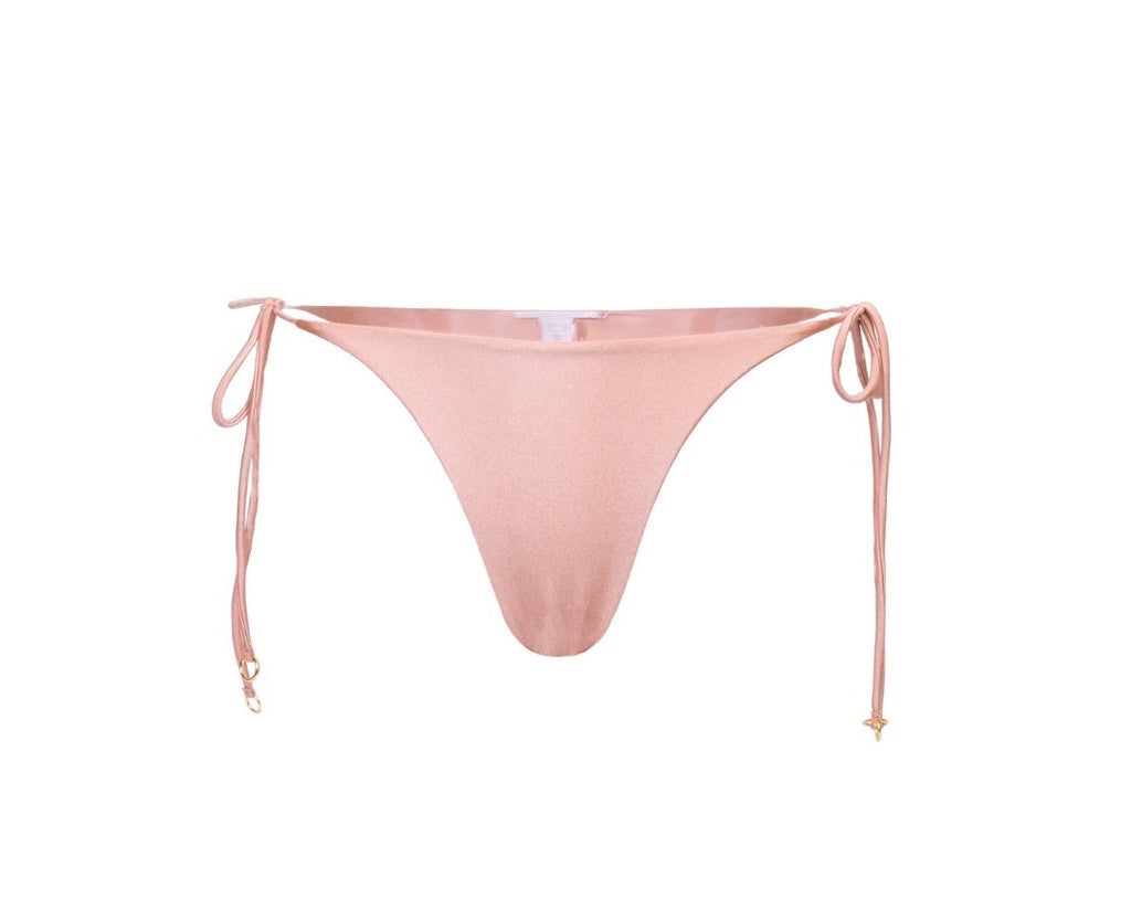 Rose gold tie-side cheeky bottoms