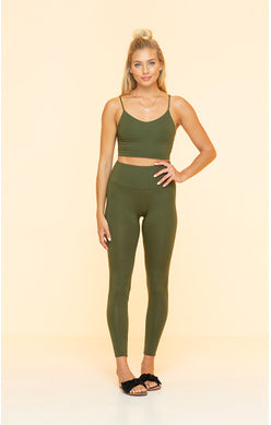 Dark Green Indah Bra Top
