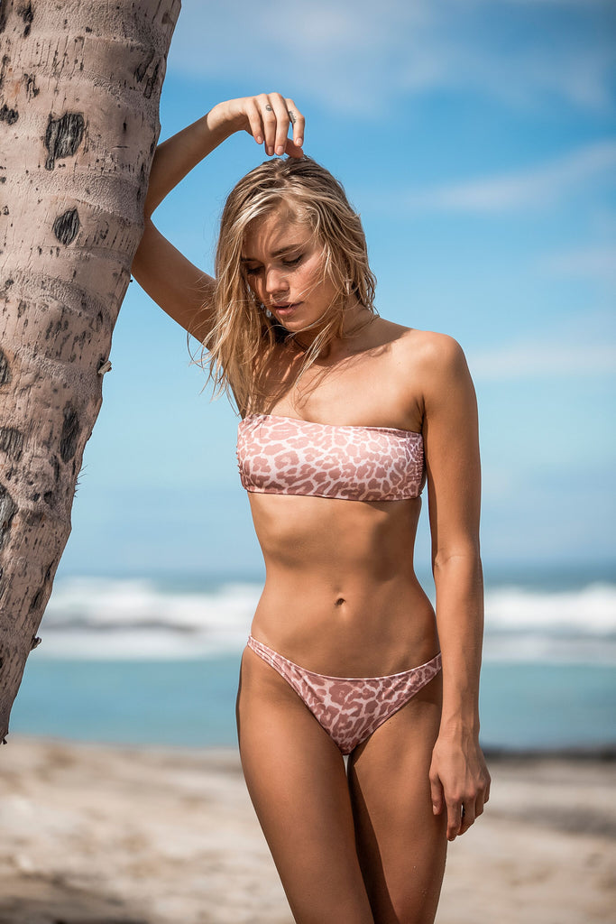 Cheetah bandeau top