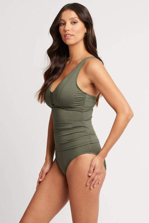 Load image into Gallery viewer, Dark Green Tankini Top