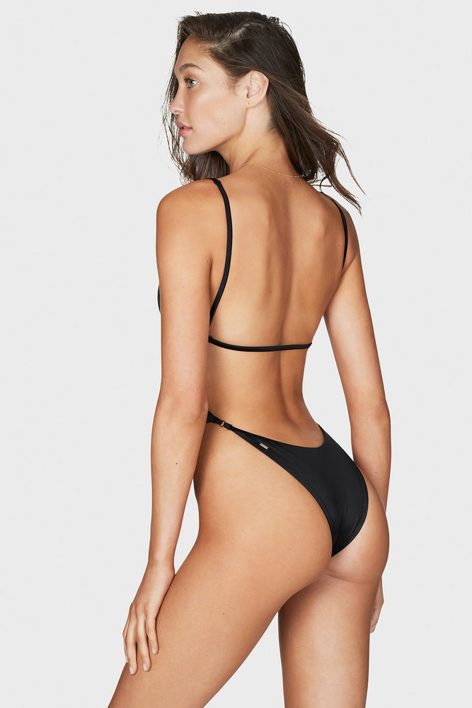 Load image into Gallery viewer, Black strappy one piece