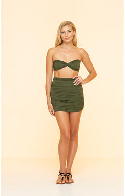 Green Seamless Mini Skirt