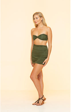 Load image into Gallery viewer, Green Seamless Mini Skirt