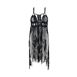 Load image into Gallery viewer, Black Macrame Cover Up
