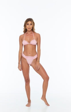 Pink Macrame Triangle Top