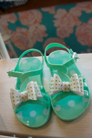 Green Plastic Sandals