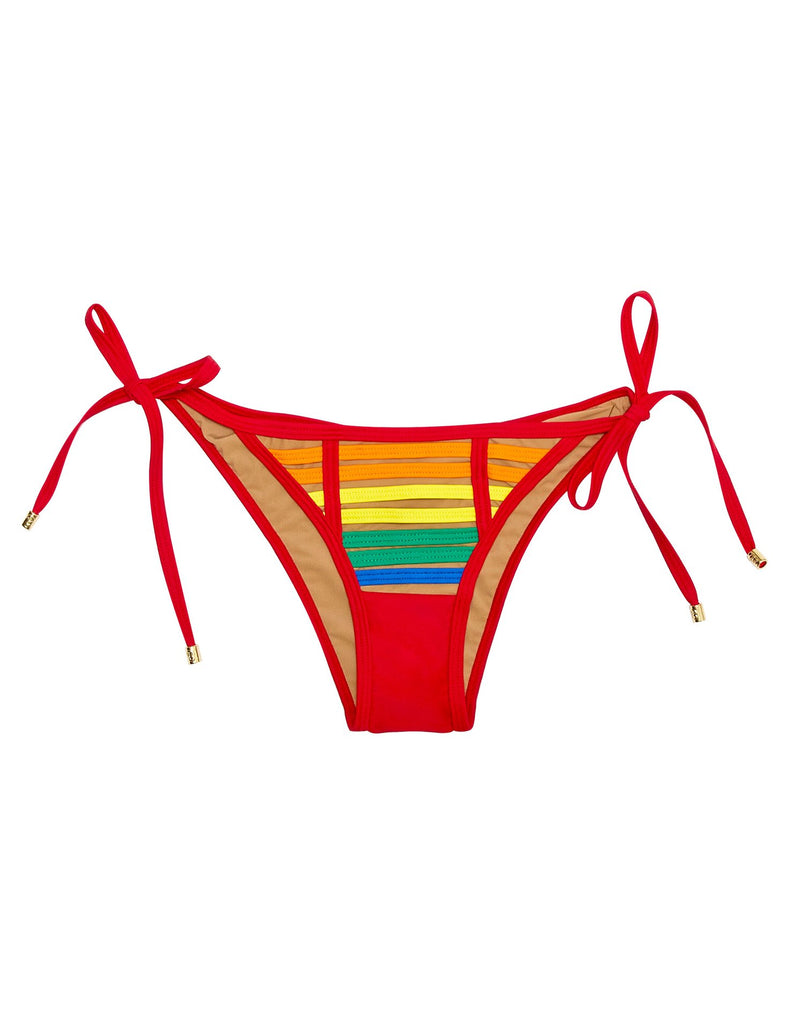 Rainbow cheeky side tie bottoms
