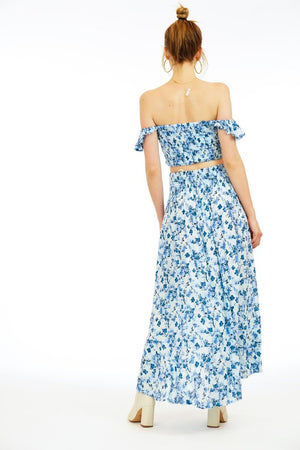 Load image into Gallery viewer, Long Blue Print Dress