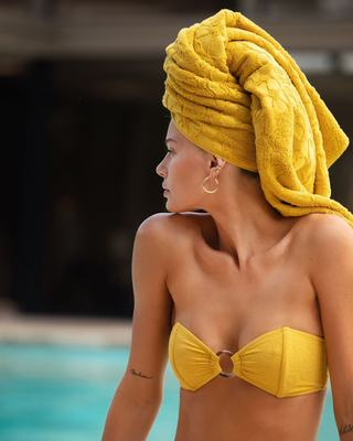 Yellow textured bandeau