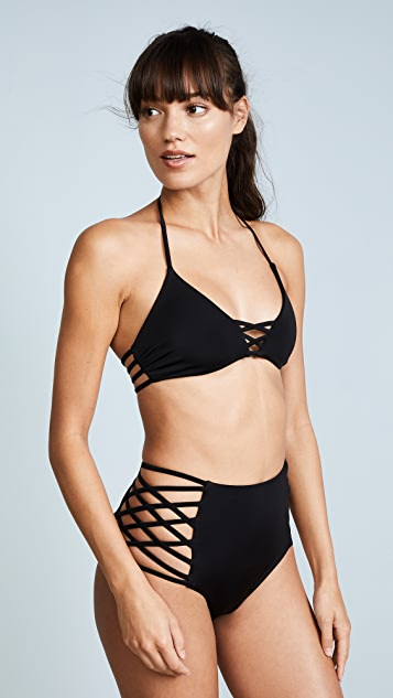 Criss cross halter top