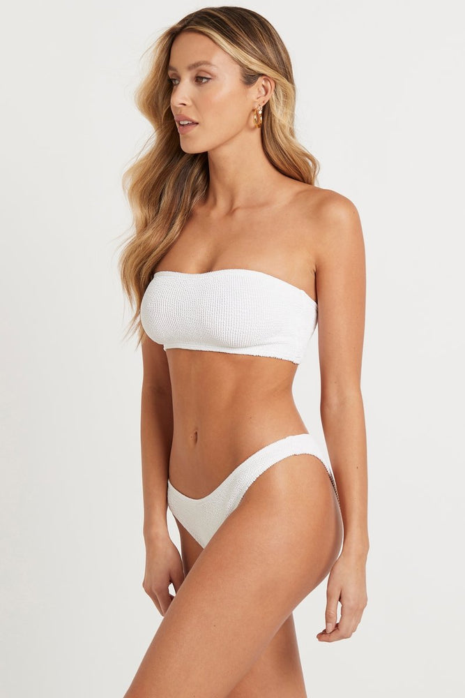 Load image into Gallery viewer,  White Textured Bandeau Top