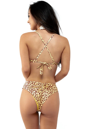 Load image into Gallery viewer, Cheetah print triangle top with racer back