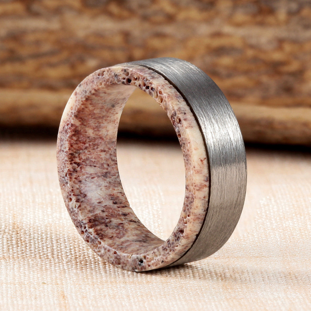 band products antler rings inlay deer fit wedding men lapis comfort dsc with women ring