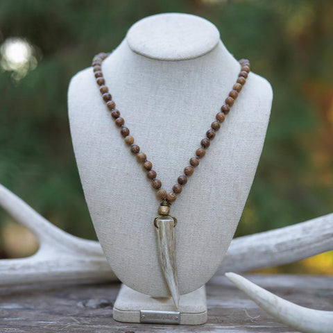 Antler & Wood Bead Necklace