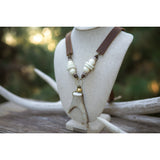 Antler Fork & Leather Necklace - OUT OF STOCK