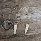 Antler Tip Hoop Earrings
