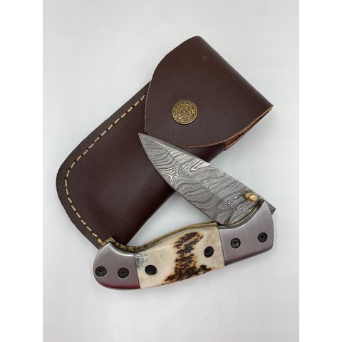 The Banff (Damascus Pocket Knife Large) - OUT OF STOCK
