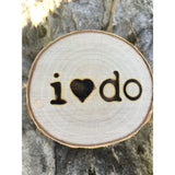 Birch Wood Ring Box - 'I Do'