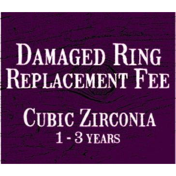 Ring Replacement Fee - Cubic Zirconia (1-3 years)