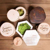 Birch Wood Ring Box - 'Forever Yours'