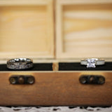 His & Hers - Wedding Ring Box (Pine)