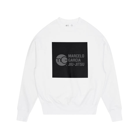 MGJJ Box Logo Sweater, White
