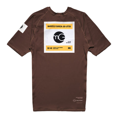 MG Rash Guard V3, SS Brown