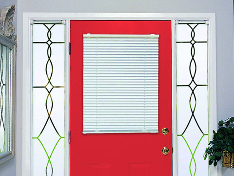 MagneBlind® Cordless Magnetic Mini Blind for Metal Doors and Windows - 25 x 41 - Aluminum - White