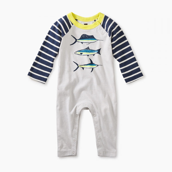 Deep Sea Raglan Graphic Romper