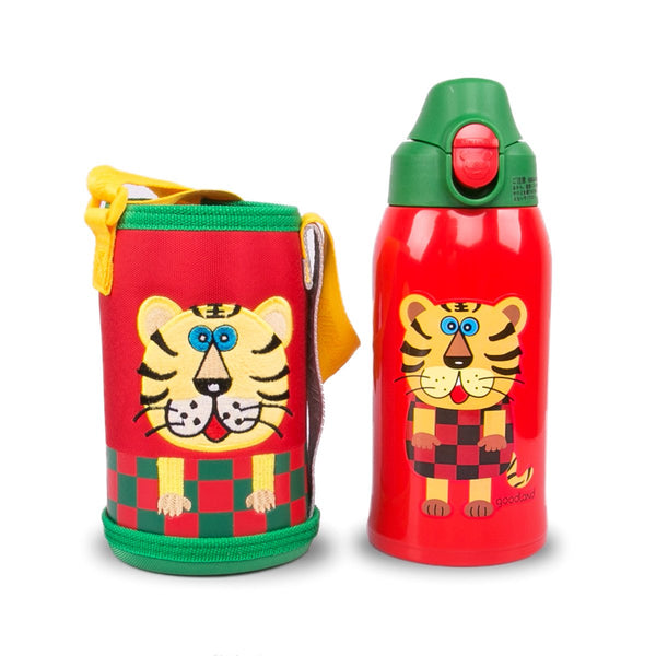 316 3-WAY Kids SUS Vacuum Water Bottle 600ml Tiger