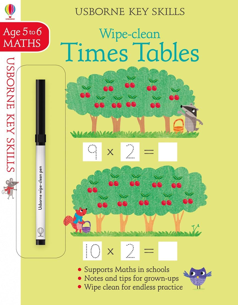 Wipe-clean : Times Tables (Age 5-6, Maths)