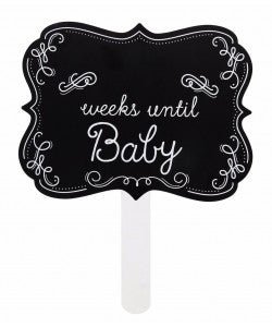 Chalkboard Photo Sign - Weeks Until Baby
