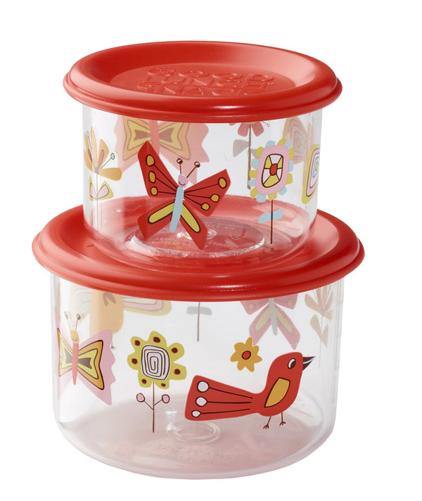Good Lunch Snack Containers - Birds/Butterfiles