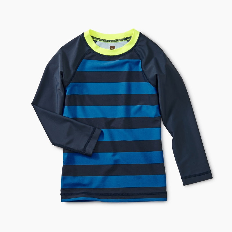 Striped Long Sleeve Rash Guard (6T)