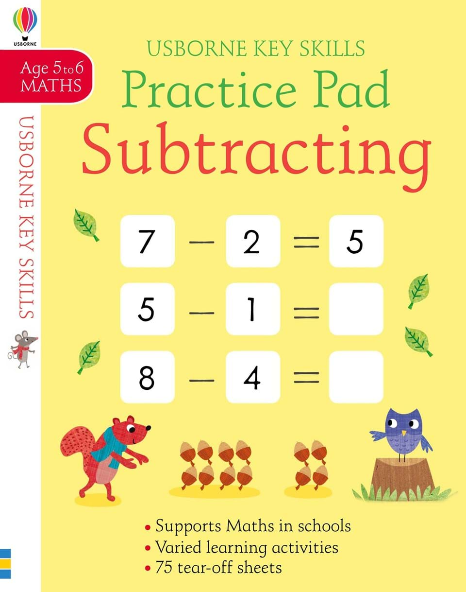 Practice Pad : Subtracting (Age 5-6, Maths)